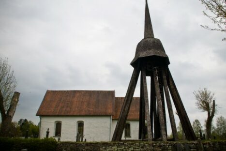 Bild på Nöttja kyrkklockor.